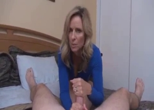 Beauty blonde enjoys nasty sex with her stepson