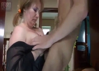 My fat mum in stockings is a really nice sex gift