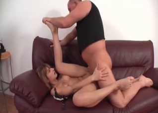 Dad fucks his lustful stepdaughter in the missionary pose